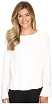 Vince Camuto Flutter-Cuff Fold-Over Blouse