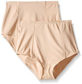 Ellen Tracy Women's Classic Comfort Brief with Extra Tummy Hold (Pack of 2)