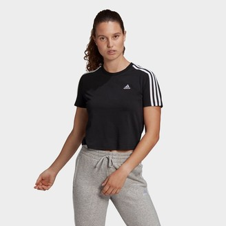 adidas Women's Essentials 3-Stripes Loose Cropped T-Shirt