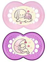 Mam Night 6+ Months Soother, Pink 2 per pack - Pack of 2