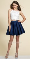 Dave and Johnny Two Piece Embellished Lace Applique Party Dress