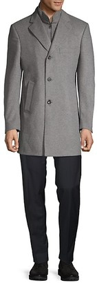 Saks Fifth Avenue Made In Italy Wool Cashmere Car Coat