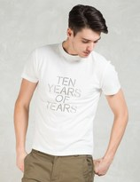 Our Legacy White Ten Years Of Tears S/S T-Shirt