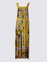 Per Una Floral Print Flared Side Split Maxi Dress