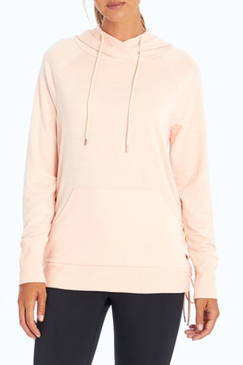 Marika Nice Side Lace-Up French Terry Hoodie