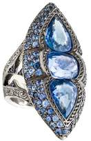 Loree Rodkin 18K Sapphire Marquise Cocktail Ring