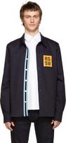 Raf Simons Navy Denim Patch Shirt