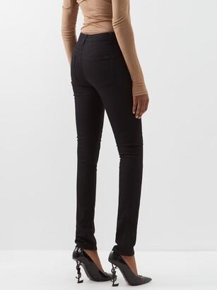 Saint Laurent High-rise Skinny-leg Jeans - Black