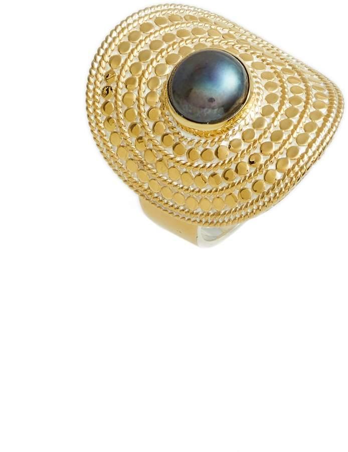 Anna Beck Genuine Blue Pearl Shield Ring