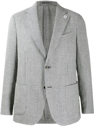 Lardini Fine Knit Fitted Blazer