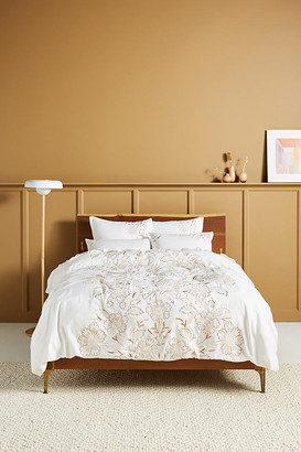 Anthropologie Embroidered Saffron Duvet Cover By in Assorted Size TW TOP/BED