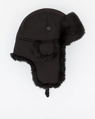 Le Château Nylon & Faux Fur Trapper Hat