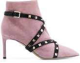 Valentino studded strap ankle boots