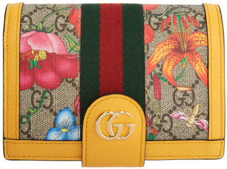 Gucci Multicolor GG Flora Ophidia Passport Holder