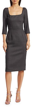 Dolce & Gabbana Stretch-Wool Pinstripe Sheath Dress