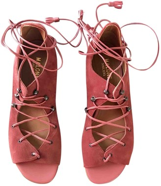 Malone Souliers Burgundy Suede Sandals