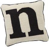 Alphabet Needlepoint Pillow, N
