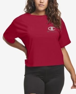 Champion Plus Size Cropped Logo T-Shirt