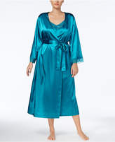 Thalia Sodi Plus Size Lace-Trimmed Wrap Robe, Created for Macy's