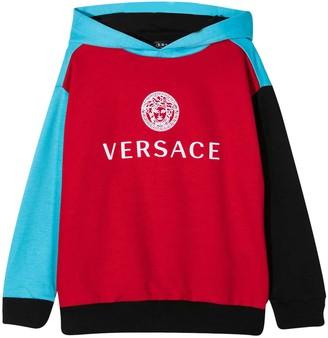 Versace Color-block Design Sweatshirt Young Versa