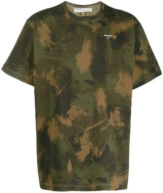 Off-White paintbrush camouflage T-shirt