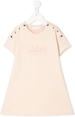 Chloé Kids logo-print T-shirt dress