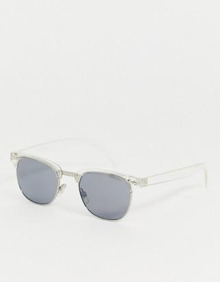 A. J. Morgan AJ Morgan square wayfarer sunglasses in clear