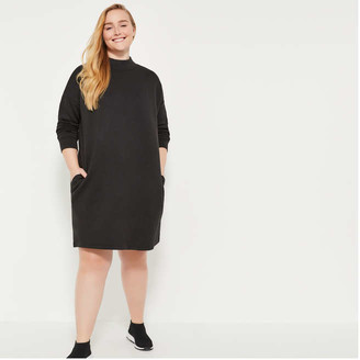 Joe Fresh Women+ Ponte Turtleneck Dress, JF Black (Size 2X)
