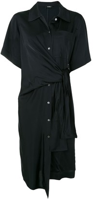 GOEN.J Knot Detail Shirt Dress