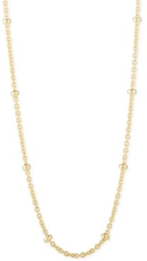 """CHARMBAR Beaded Link Chain Necklace, Adjustable 16"""" - 20"""""""