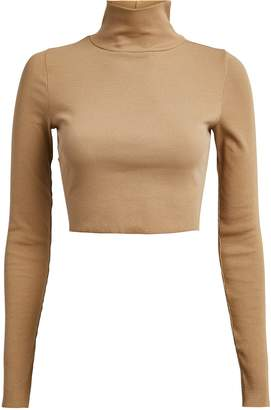 NSF Ribbed Cropped Turtleneck