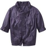 Crop-sleeve ruffle jacket
