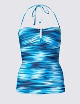 Marks and Spencer Ripple Striped Halterneck Tankini