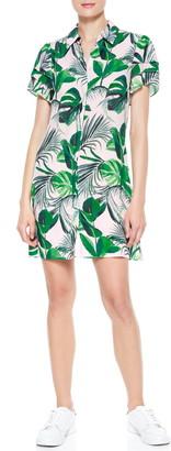 Alice + Olivia Jem Printed Shirt Dress