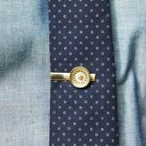 Blade + Blue Vintage Brass Roulette Wheel Tie Clip