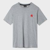 Paul Smith Men's Grey Melange Organic-Cotton Flocked PS Logo T-Shirt