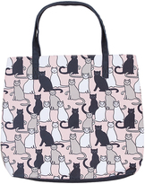 Pink & Black Sitting Cats Tote