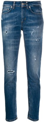 Dondup Distressed Effect Slim Fit Jeans