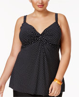 Miraclesuit Plus Size Pin Point Roswell Tankini Top