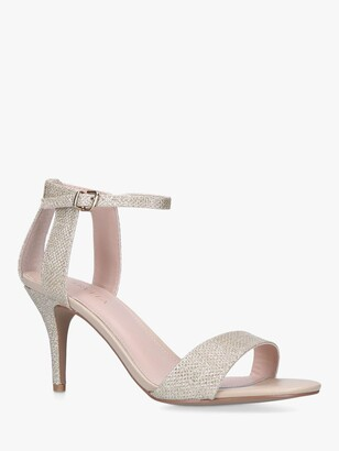 Carvela Kollude Leather Sandals, Gold Fabric