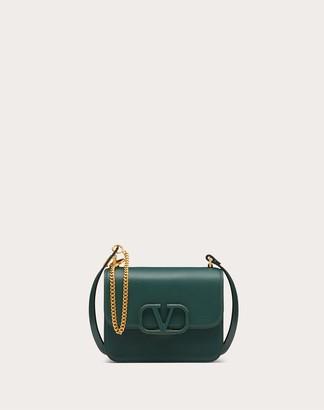 Valentino Small Vsling Grainy Calfskin Shoulder Bag Women English Green 100% Pelle Di Vitello - Bos Taurus OneSize