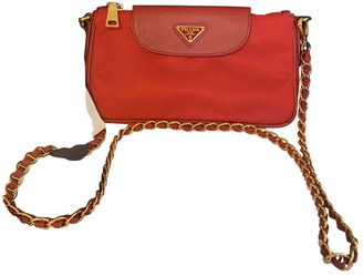 Prada saffiano Red Patent leather Handbags