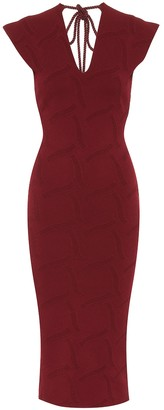 Roland Mouret Dorada crApe knit midi dress