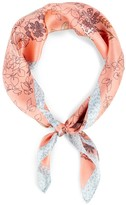Sole Society Floral and Leopard Silk Bandana