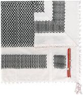 Amen mini tassels zigzag scarf - men - Cotton - One Size