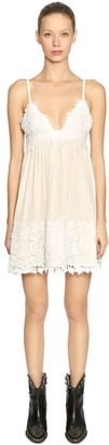 Fausto Puglisi Silk & Lace Mini Dress