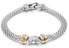 Effy Diamond, 18K Yellow Gold, Sterling Silver Bracelet