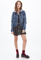 FOREVER 21 Hooded Denim Jacket