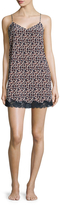 Stella McCartney Women's Ellie Silk Print Lace Hem Chemise