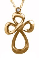Jessica Simpson Gold Cross Pendant in 10k Yellow Gold